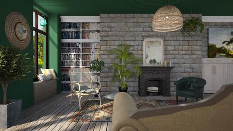 Bohemian interior - Retro - Living room  - by tolo13lolo
