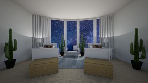 Starlit bedroom - Bedroom  - by Silverjetair