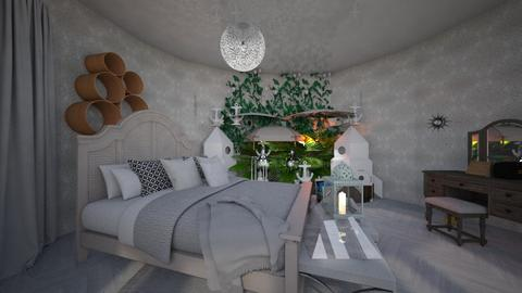 Whimsical bedroom white  - Glamour - Bedroom  - by noadesign