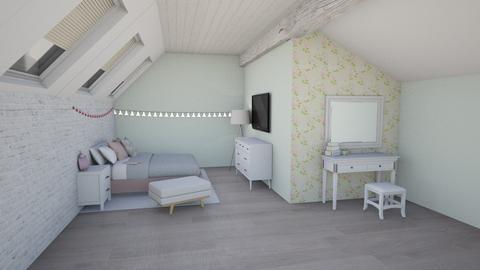 Attic Bedroom - Bedroom  - by UnluckyCassidy