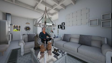 CASA TIPO APARTA - Retro - Living room  - by yonfray rojas