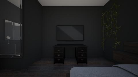 Dark academia bedroom - Rustic - Bedroom  - by andykat