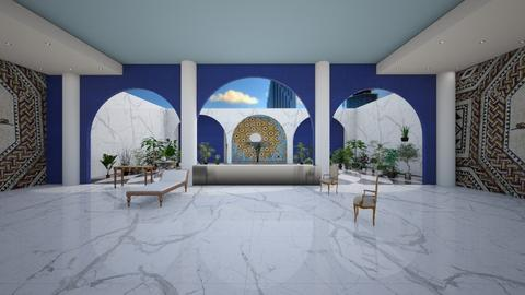 roman villa miami - Living room - by ppolicar