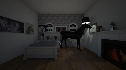 horse bedroom - Kids room  - by palomino123