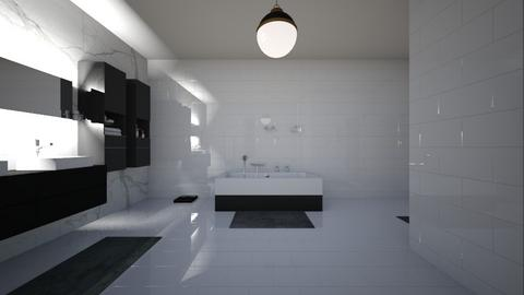 black and gold bathroom - Modern - Bathroom  - by matea2020rmkei