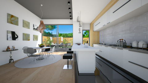 Open Kitchen - Modern - Kitchen  - by Laurika