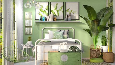 Sage green bedroom - Modern - Bedroom  - by Dayanna Vazquez Sanchez