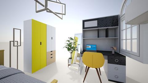 Yellow Bedroom - Modern - Bedroom - by beepbeep01