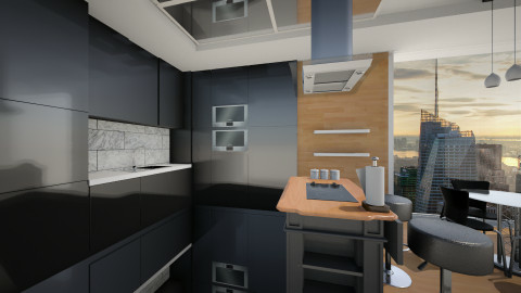 Black style - Classic - Kitchen  - by GoliaNova