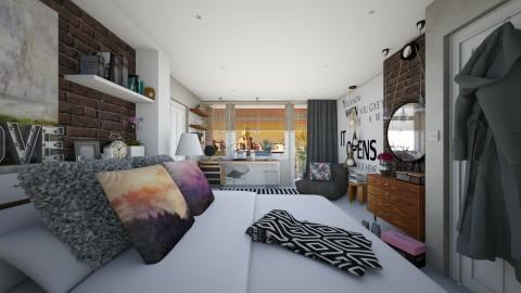 Bedroom redesign - Modern - Bedroom  - by Sweety Sophie