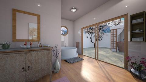 Cherry Blossom Bathroom - Bathroom  - by ginamelia22