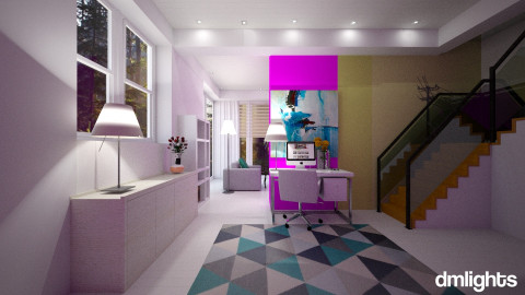 home art office - Modern - Office  - by DMLights-user-982918