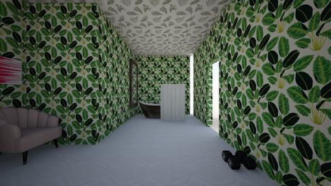 Japanese room design one - Modern - Bedroom  - by iwand0
