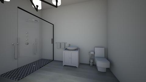 grey bathroom - Bathroom  - by OferneH