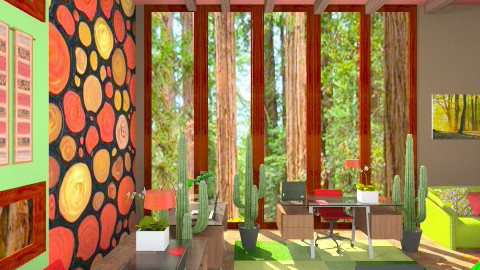 The Redwood room - Country - Living room  - by armeen_hedayat