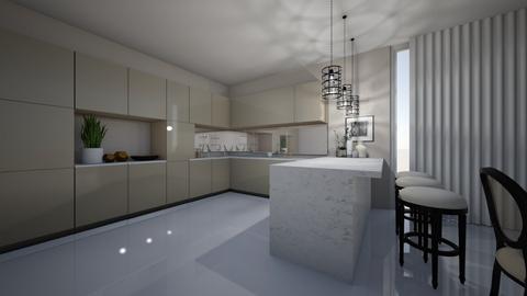 beige dream kitchen - Kitchen  - by sandyelenadia