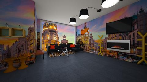 orange me - Living room  - by nylasiaaa