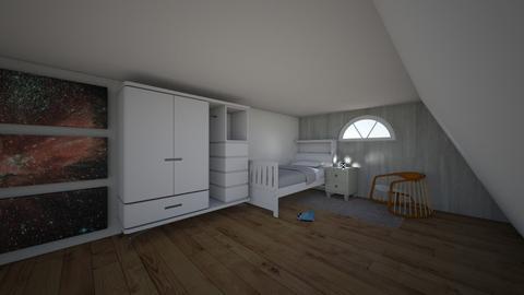 attic bedroom - Retro - Bedroom - by evrska
