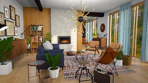 mid century fun living - Retro - Living room  - by Moonpearl