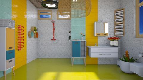 Fun Island Vibes - Modern - Bathroom  - by augustmoon
