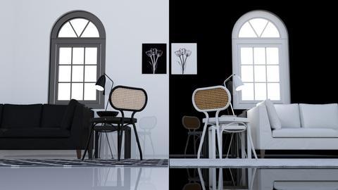 Le noir et blanc - Minimal - Living room  - by HenkRetro1960