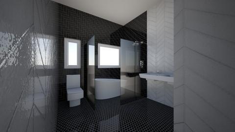 bathroom dark floor - Bathroom  - by patriciao