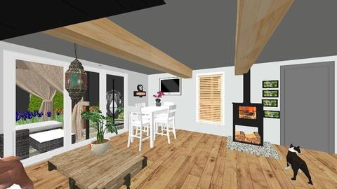 salon domek2 - Living room - by sysia