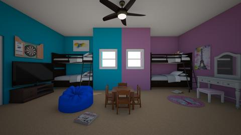 Four Kids In One Room - by cmj53