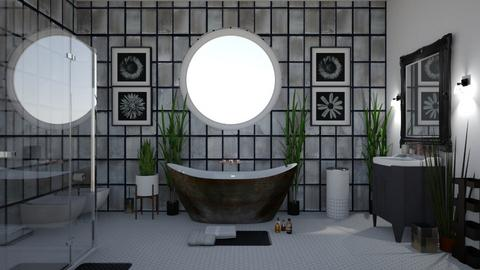Black on White - Glamour - Bathroom  - by Irishrose58