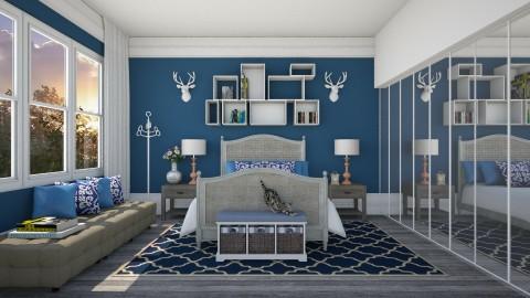 Azul Feliz - Bedroom  - by Sanare Sousa