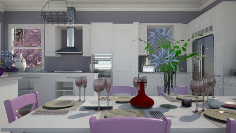 Purple and Beige Contest - Kitchen  - by lauren_murphy