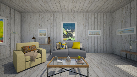 yellow - Rustic - Living room  - by franciss