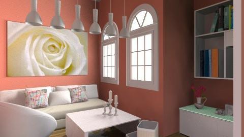 pink - Living room  - by Damira Beslagic