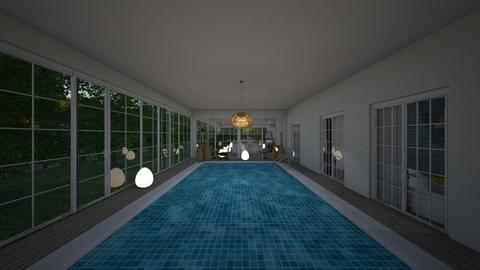 Eclectic_swimming pool2 - Garden  - by lovasemoke
