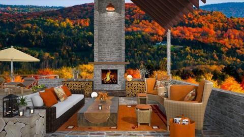 Autumn View - Garden  - by Amyz625