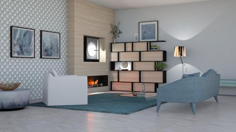 Wood Wall - Living room  - by yonvie