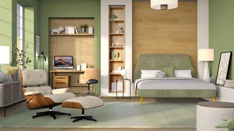 Herbs and Greens - Bedroom  - by dominicjames