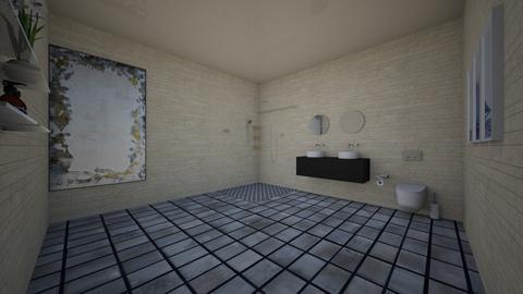 Grat and Tan - Bathroom  - by Avatarrr