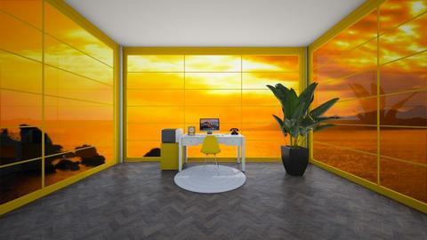 Yellow Study Room - Office  - by cagla_deniz_
