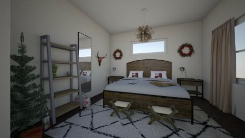 western Christmas bedroom - by bellavanderwal