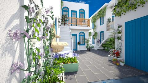 Greece courtyard - Classic - Garden - by Bibiche