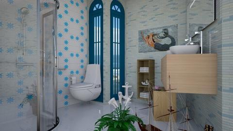 Nautical Themed Bathroom - Bathroom  - by Tupiniquim