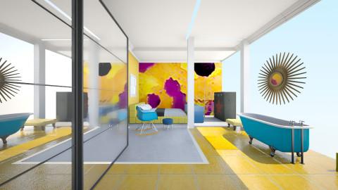 Yellow - Living room - by Masha Melnik