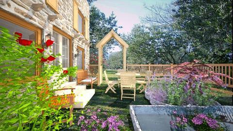 Jardin provencal - Rustic - Garden  - by Bibiche