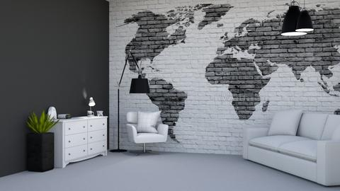 Black and White Living - Modern - Living room  - by Aristar_bucks