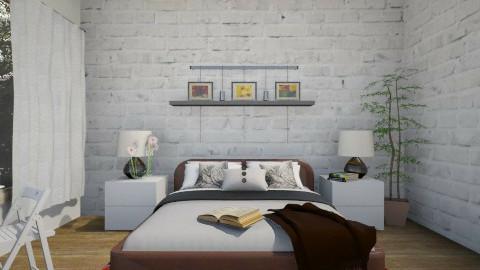 White Brick Wall - Bedroom - by so_lejit135