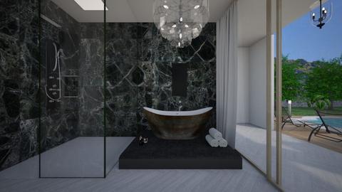 Glamour_bathroom noir2 - Bathroom  - by lovasemoke