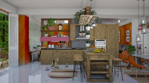my kitchen  - Eclectic - Kitchen  - by Ida Dzanovic
