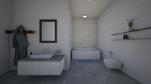 Gray and White Bathroom - Bathroom  - by  Mary Ann