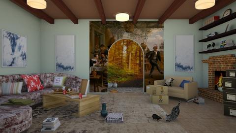 LR  Jan Steen Style - Living room  - by KarJef